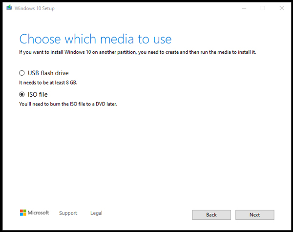 windows 10 iso fajl file