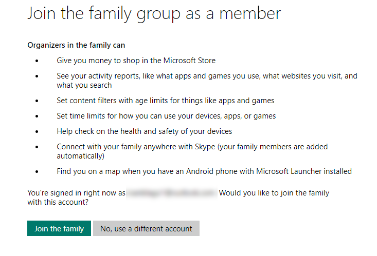 join the family group